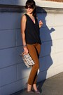 Black-h-m-top-deep-purple-h-m-bag-bronze-banana-republic-pants