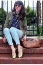 Bronze-jcrew-bag-gold-ellie-shoes-flats-navy-jcrew-blouse
