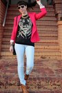 Tawny-dmsx-boots-light-blue-zara-jeans-hot-pink-zara-jacket