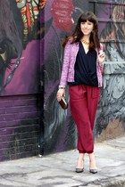 black Jean-Michel Cazabat pumps - hot pink JCrew jacket - bronze MMS bag