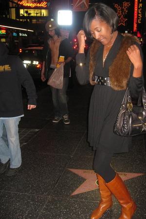 black C&C California dress - brown H&M - brown Loeffer Randall shoes - black Jui