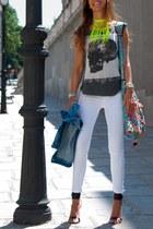cool T-shirt t-shirt - skinny Jeans jeans - hippie tarifa bag