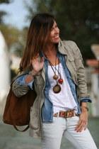 hippie Bershka jeans - sport chic H&M coat - sport chic H&M shirt