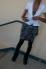 Boots-blazer-black-tights-tights-skirt