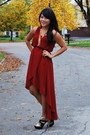 Black-glitter-guess-shoes-crimson-chiffon-forever-21-dress