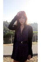 purple Secondhand dress - black Topshop sweater