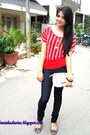 White-kiara-bag-red-showoff-top-black-jeggings-pants-charcoal-gray-kitten-