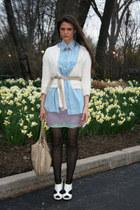 handmade dress - denim thrifted vintage shirt - studded GoJane heels - Limited c