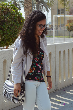 Wet Seal shirt - Bershka jeans - new look jacket - Forever 21 bag