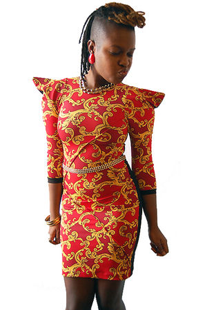 red naKiMuli dress