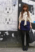 Manoush blouse - UO skirt - Nine West shoes - Gucci purse
