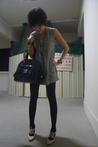 H&M dress - Wolford tights - 1920s oxfords shoes - Betsey Johnson purse