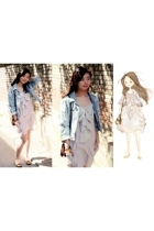 forever 21 jacket - Jr dress - shoes - accessories