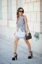 black Style Mafia skirt - black Steve Madden shoes - black H&M bag