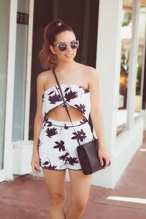 white Style Mafia shirt - black H&M bag - black Style Mafia shorts