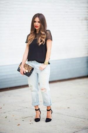 black mesh Agaci shirt - black Nine West shoes