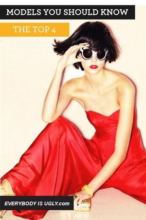 red long lanvin dress