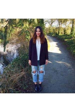 Capezio boots - calvin klein jeans - H&M blazer - wilfred shirt