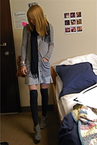 Old Navy dress - Club Monaco sweater - - HUE socks