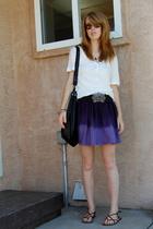 joe shirt - off the wall skirt - Aldo purse