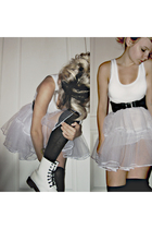 warehouse vest - River Island belt - homemade skirt - River Island socks - Dr Ma