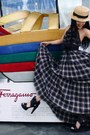 Plaid-dress-dkny-dress-asos-belt-black-heels-zara-heels