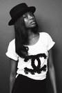 Black-vintage-hat-zara-leggings-white-h-m-t-shirt
