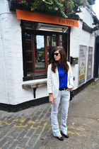 blue Very shirt - sky blue calvin klein jeans - off white cichic blazer