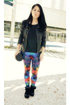 blue SucicideBlondeProject leggings - black Fashion Pills sneakers