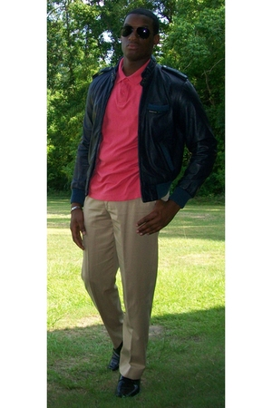 Eddie B shirt - Members Only jacket - pants - Kenneth Cole shoes