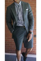 thrifted jacket - Polo shirt - Perry Ellis shorts - Polo belt - Kenneth Cole sho