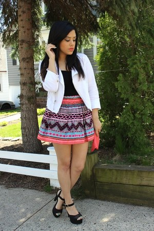 H&amp;M skirt - furor moda jacket - Mandee heels - garage top