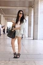 studded OASAP bag - greylin blazer - greylin shorts - Charlotte Russe heels