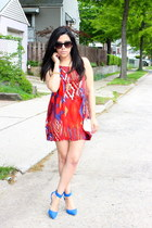 ankle strap r31nvented heels - aztec print Gyspy Warrior dress - H&M bag