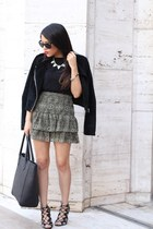 H&M jacket - H&M bag - H&M blouse - H&M skirt - Prabal Gurung for Target heels
