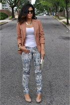 Zara pants - Forever21 blazer - Zara heels