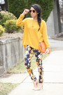 H-m-sweater-floral-choies-pants-forever21-heels