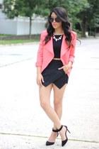 LUNAB blazer - skort Sheinside skirt - crop furor moda top