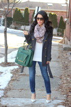 Charlotte Russe coat - Old Navy jeans - infiniti Charlotte Russe scarf