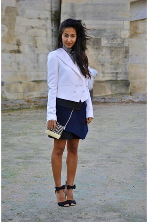 white Givenchy blazer - navy PROENZA SCHOULER skirt - black Gianvito Rossi heels