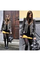 Frankie Morello coat - ASH boots - baenciaga bag - Pull and Bear shorts