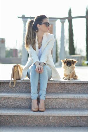 asos jeans - Mango jacket - Michael Kors heels