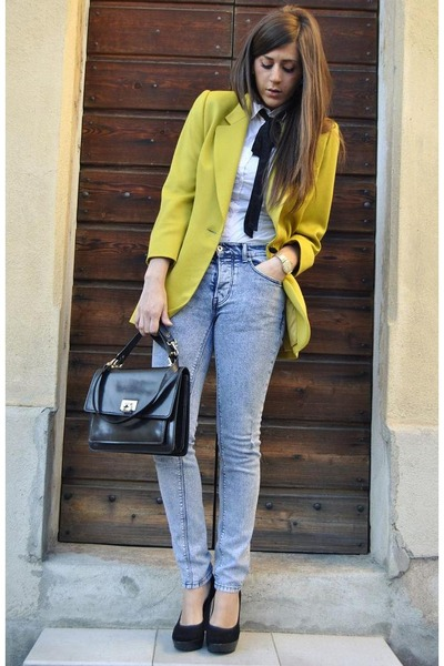 Top Man jeans - Prima Donna shoes - vintage blazer - shirt shirt - vintage bag