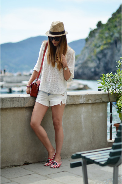 H&M hat - Proenza Shouler bag - Zara shorts - Zara flats