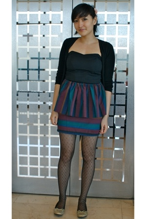Secondhand sweater - vintage reconstruction dress - neneee skirt - tights - Targ