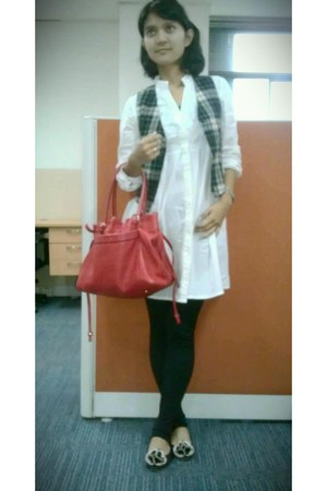 kate spade bag - Zara dress - Zara flats - vest