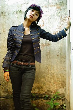 jeans - jacket - accessories