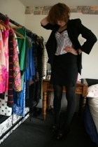 blazer - H&M t-shirt - aa dress - - faith via a shoot shoes