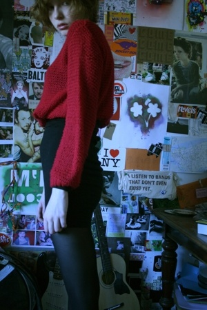 Topshop sweater - American Apparel dress - Office shoes