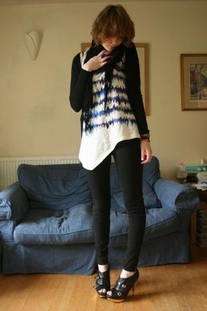 Zara t-shirt - aa - Gap - H&M scarf - Faith shoes